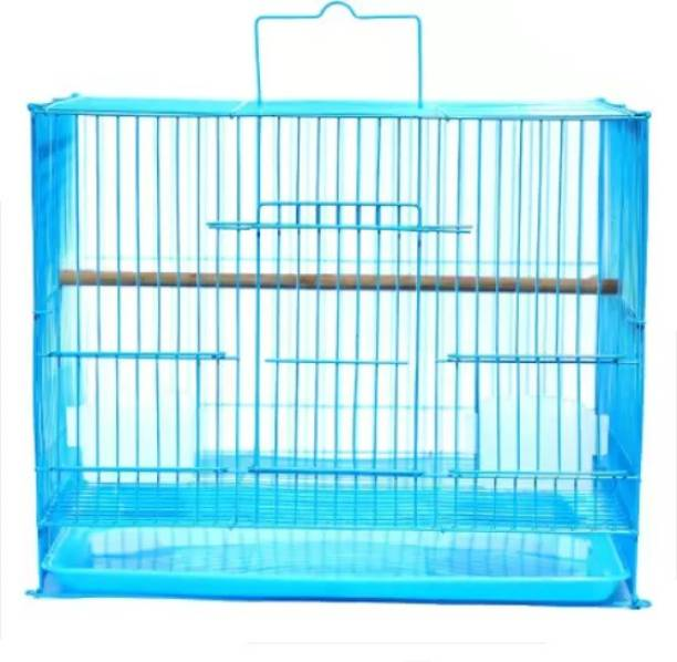 KAPOOR PETS BIRDS CAGE / EASY INSTALLATION / SUITABLE FOR Lovebirds, Finch, Parakeet, Canary for small birds (18 INCH) Bird House (Hanging) size 18*12*13 Bird House