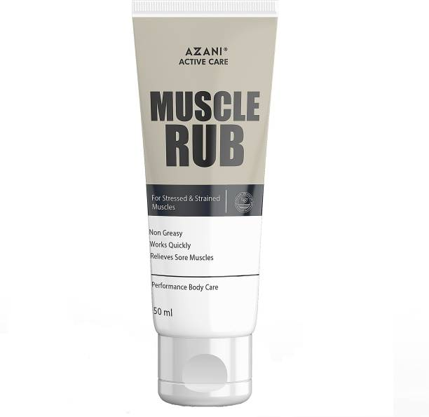 Azani Active Care Muscle Rub for Pain Relief, Muscle Recovery&Relaxation with Natural Essential Oils Cream