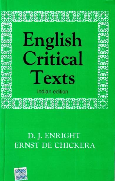 English Critical Texts