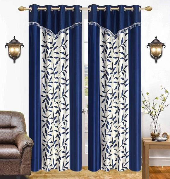 HVF Threads 212 cm (7 ft) Polyester Door Curtain Single Curtain