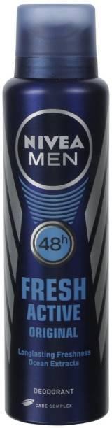 NIVEA Fresh Active Original Longlasting (150 ML) Deodorant Spray - For Men (150 ml) Deodorant Gel  -  For Men