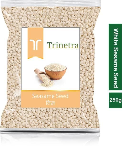 Trinetra Best Quality Safed Til (White Sesame Seeds)-250gm (Pack Of 1)