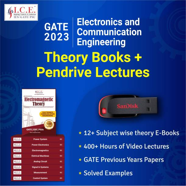 ICE GATE Electronic Communication and Engineering 2023 Exam Preparation Course ( Theory Books-All Subjects+Pendrive Lectures) Complete Guidance