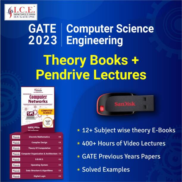 ICE GATE Computer Engineering 2023 Exam Preparation Course (Pendrive Lectures + Theory Books)
