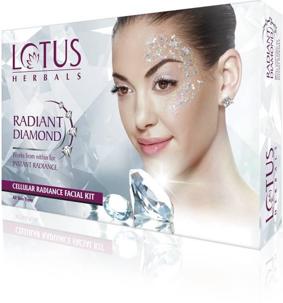 LOTUS HERBALS Radiant Diamond single Facial kit 37 g (4 sachets)