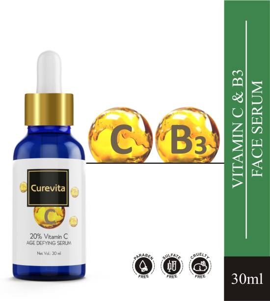 Curevita Vitamin C Face Serum gives Brighter Glowing Skin (with Hyaluronic Acid)