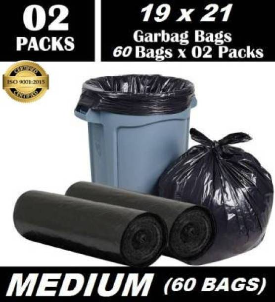 Personality plus Oxi Biodegradable Garbage Bags 19*21 inches ( pack of 2, 60 pieces ) Medium 60 L Garbage Bag