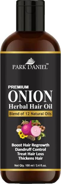 PARK DANIEL Premium Onion Herbal Hair Oil - Blend of 12 Natural Oils for Hair Regrowth, Treat hair loss, Dandruff Control & Thickens hair Hair Oil
