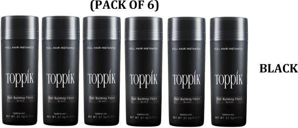 toppik Black Hair building Fibers 27.5 gm Black Hair building Fibers 27.5 gm Medium Hair Volumizer Hair Fibers