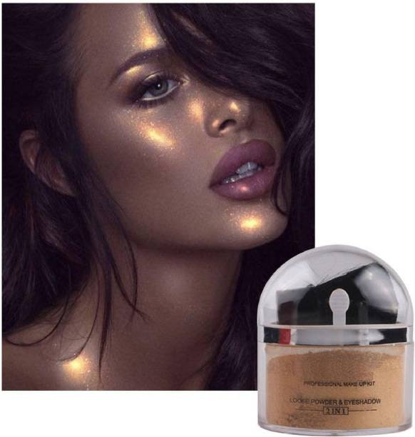 THTC Illumination Face Makeup powder Highlighter With 24k Gold Flakes Highlighter For Professional Look Highlighter