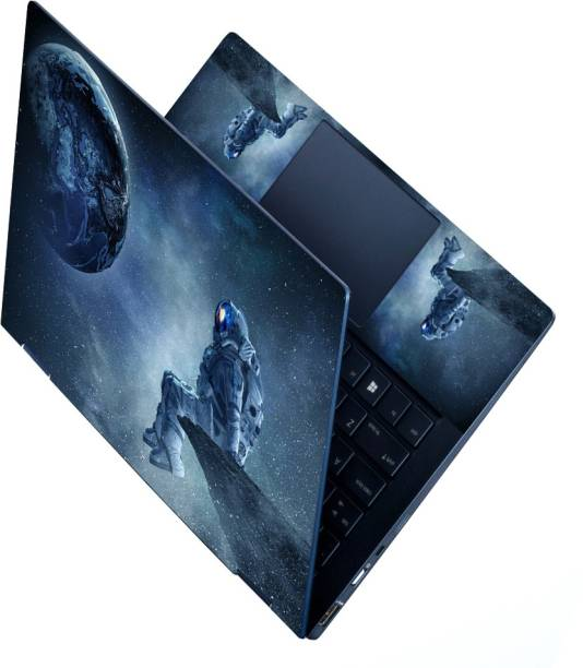 dzazner HD Printed Full Panel Laptop Skin Sticker Vinyl Fits Size Upto 15 inches No Residue, Bubble Free - Astronaut Outer Space Stars Vinyl Laptop Decal 15.6