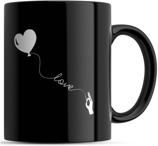 Square Designs Love Printed Coffee Milk Tea Cup, Valentine Gift, Gift for Girlfriend, Boyfriend Gift, Couple Gift, Bestie Gift, Birthday Present Ceramic Coffee Mug