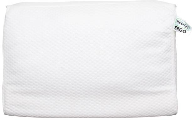 RECRON CERTIFIED Polyester Fibre Solid Orthopaedic Pillow Pack of 1