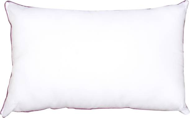 RECRON CERTIFIED Polyester Fibre Solid Sleeping Pillow Pack of 1