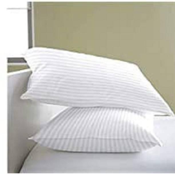 Neetu Traders Cotton Stripes Sleeping Pillow Pack of 2