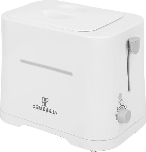Homeberg HT699-Pop Up Toaster 700W - White 750 W Pop Up Toaster