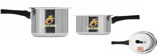 klassi kitchen Aluminium Pressure Cooker (ISI) Combi Pack (3 LTR Cooker+ Pan Combi Pack Gift Set) 3 L, 2 L Pressure Cooker & Pressure Pan (Aluminium) 3 L, 2 L Pressure Cooker