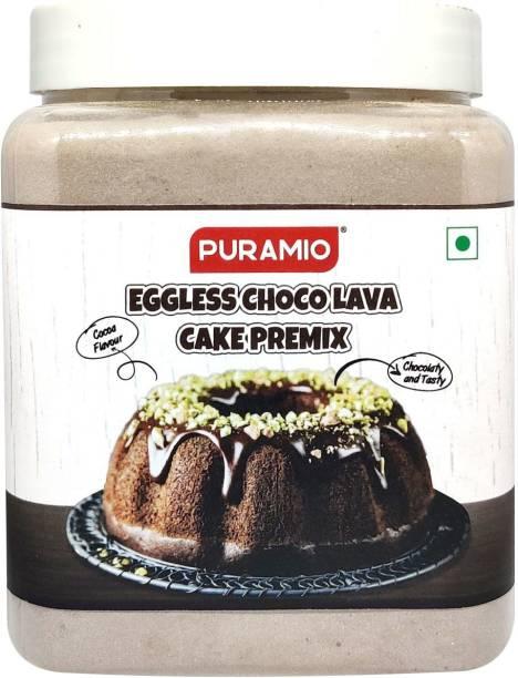 PURAMIO Eggless Choco Lava Cake Premix, 700 g