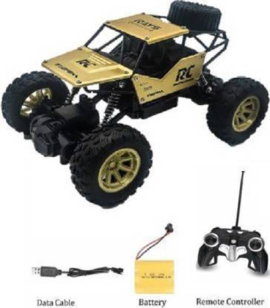 SSTOYS Monster Metal Body Rock Car Leader Climbing RC Rechargeable Car with Remote Control and 4 WD 1:18 Monster Toy Truck for Kids