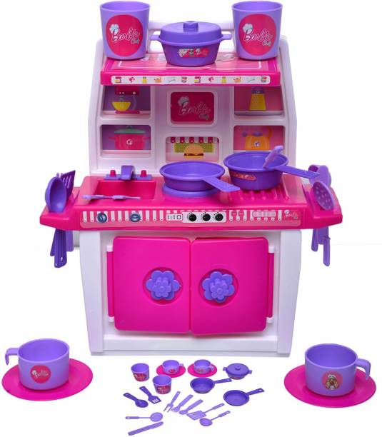 ToyDor Barbie Doll kitchen set for kids Girls Toys For Kids Non Toxic BPA Free Material used Kitchen play set( MEDIUM SIZE) Height 30 cm Width 21 cm - mzg2