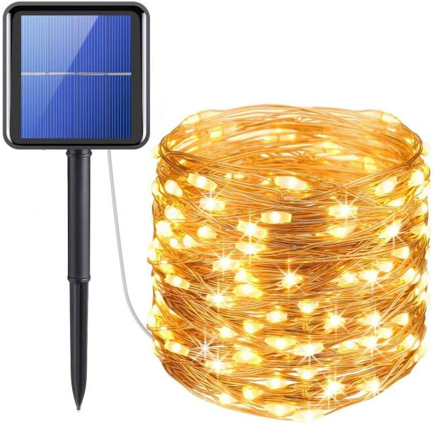 XERGY Solar Fairy String Lights Outdoor, 39 Ft 120 LED with 800 mAh Inbuilt Rechargeable Batter IP65 Waterproof 8 Modes Copper Wire for Garden Yard Patio Christmas Tree Home Party Outdoor Decorative Solar Light Set