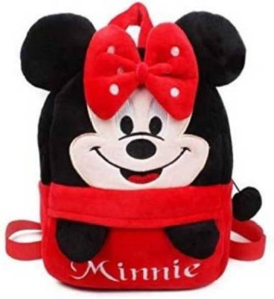 Toughway Whole Toddler Plush Headup Minnie Character Plush Bag (Multicolor, 13 L)  - 38 cm