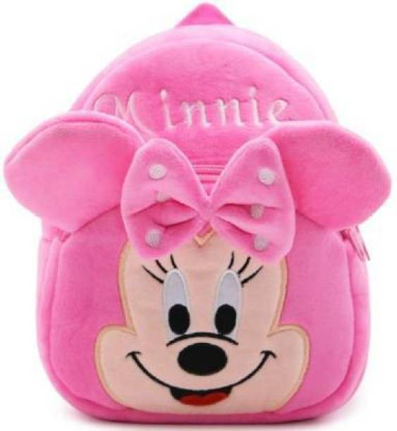 Toughway Pink Minnie Mickey Mouse design kids school bag 14inche for 2 to 5 age School Bag (Pink. 12 L) Plush Bag (Multicolor, 14 inche) School Bag (Multicolor, 15 L) School Bag (Pink, 15 L)  - 37 mm