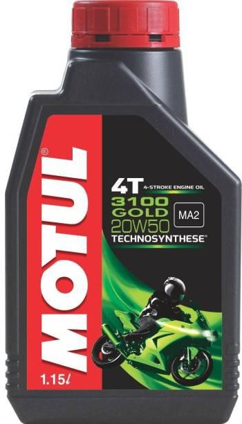 MOTUL 3100 Gold 4T 20W50 Gold Technosynthese High-Mileage Engine Oil