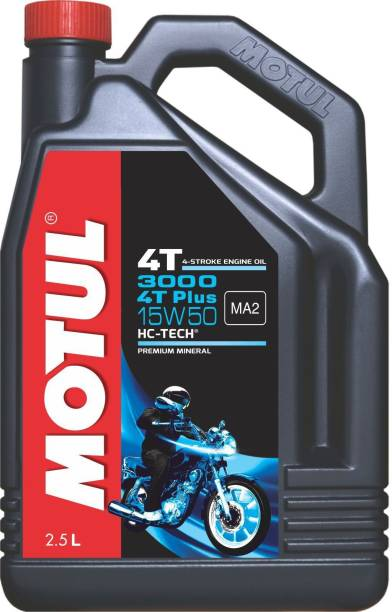 MOTUL 3000 4T Plus 15W-50 HC-Tech Conventional Engine Oil