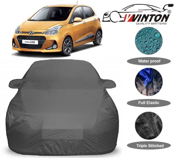 V VINTON Car Cover For Hyundai Grand i10 (With Mirror Pockets)