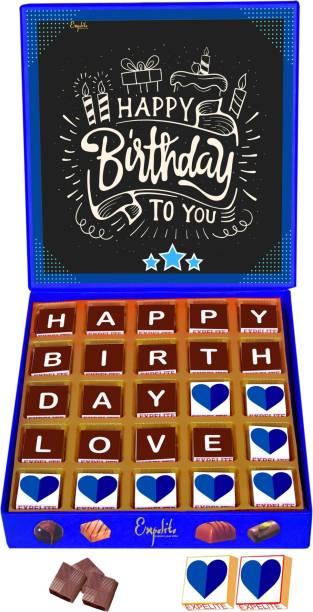 Expelite Happy Birthday My Love Chocolate Gift Box For Husband Birthday 25 pc Bars