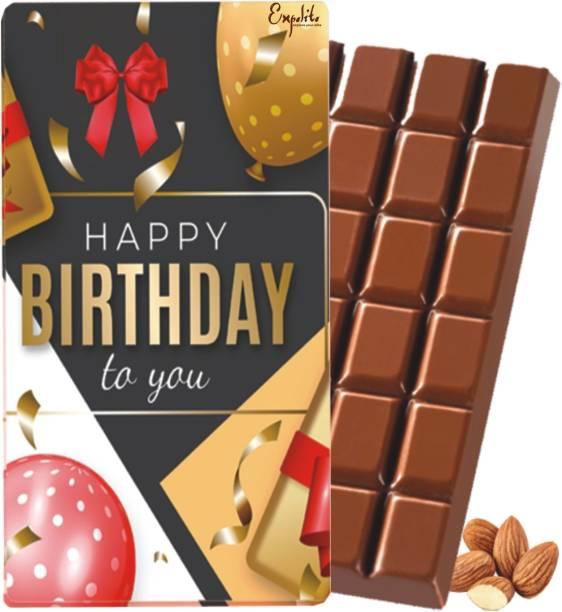 Expelite Happy Birthday Chocolate Bar Gift Box for BoyFriend-100 gm Happy Birthday to you Chocolate Gift For Girlfriend Bars