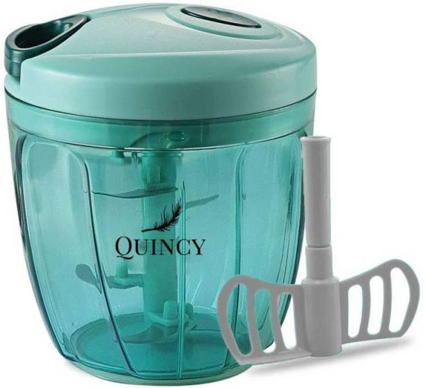 Quincy New XL Quick 900 ml Plastic Fruit Cutter & Vegetable Chopper
