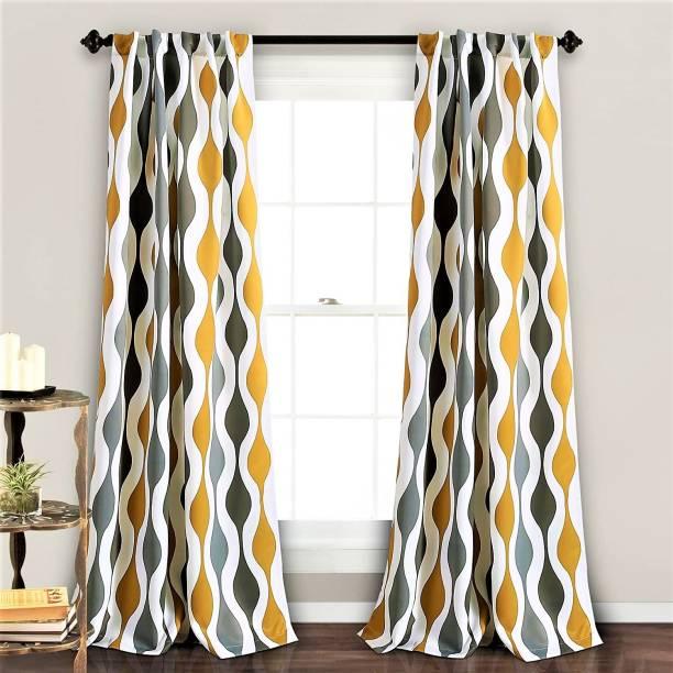 Flipkart SmartBuy 214 cm (7 ft) Polyester Door Curtain (Pack Of 2)
