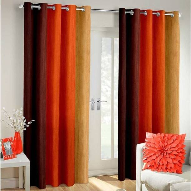 Brother Industries 215 cm (7 ft) Polyester Door Curtain (Pack Of 2)