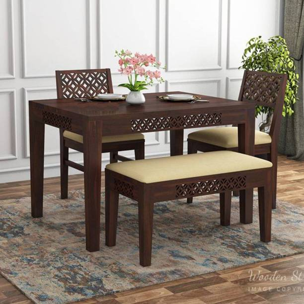 Ananya furniture Solid Wood 2 Seater Dining Set