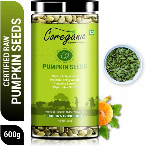 Coreganic Certified Raw Pumpkin Seeds - Protein and Fiber Rich Superfood