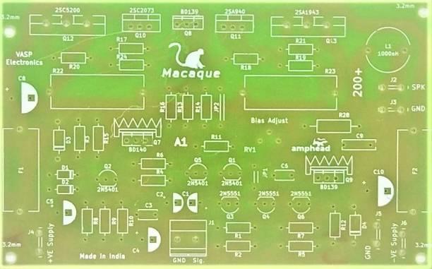 VASP Electronics 200 watt Hi Fi Amplifier PCB board using 2SC5200 2SA1943 Power transistors Electronic Components Electronic Hobby Kit