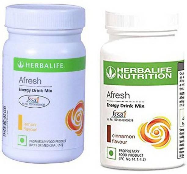 HERBALIFE Afresh Energy Drink Mix - Lemon Flavor & Cinnamon Flavor For Weight Loss Energy Drink
