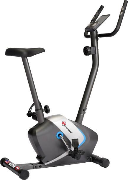 Powermax Fitness BU-350 Magnetic Upright Bike with iPad holder Upright Stationary Exercise Bike