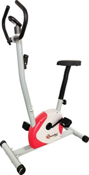 Powermax Fitness BU-200 Magnetic Upright Exercise Bike for Home Use Upright Stationary Exercise Bike
