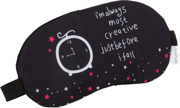 Fastyle Most Creative Eye Masks with Ice Pack Sleeping Mask for Travelling (Black)