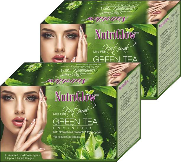 NutriGlow Natural Ultra Rich Green Tea Facial Kit Pack of 2