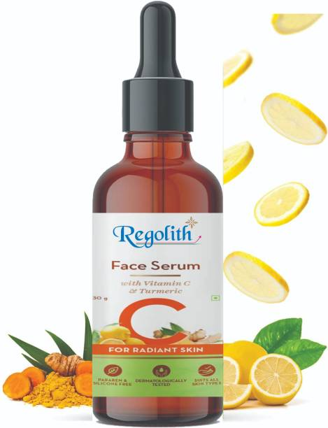 Regolith Vitamin C - Dark Spot Removal - Brightening, Anti-Aging Skin Repair, Supercharged Face Serum, Dark Circle, Fine Line & Sun Damage Corrector, Genuine 20%, Glass Bottle