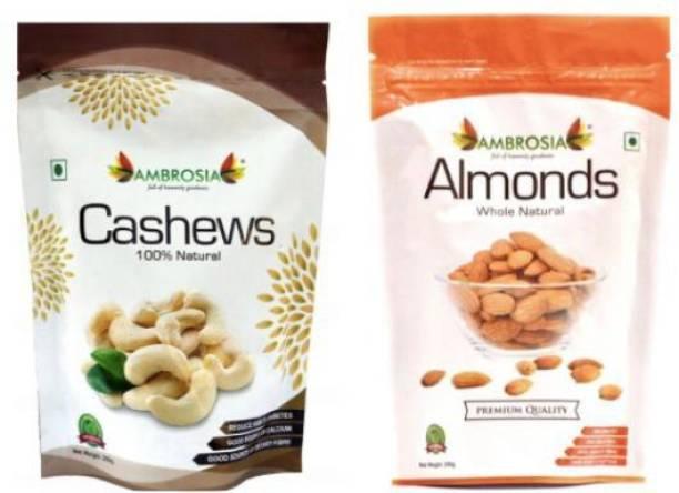 AMBROSIA Premium Almonds & Cashew Combo 500g Cashews, Almonds