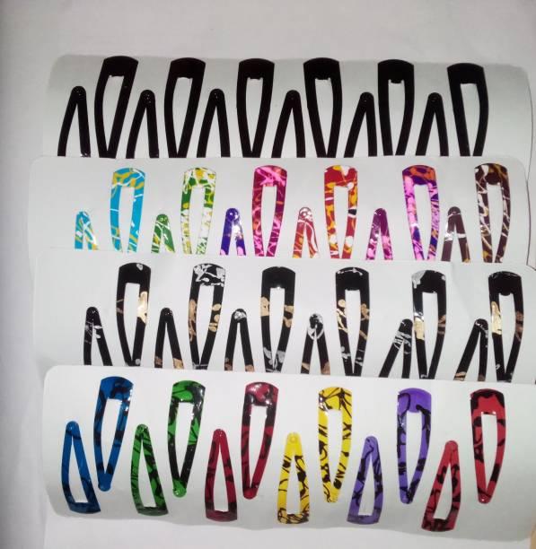 VAANYA Set of 48 Pcs-24 Pairs Premium Metal Triangular Tik Tak Hair Pins Hair Accessories for Girls and Womens Tic Tac Clip
