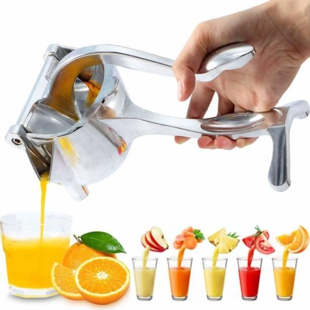 Empire Mart Aluminium Hand Juicer Heavy Duty Aluminium Metal Manual Hand Press Juicer, Fruit Juicer, Hand juicer, Lemon-Lime Squeezer, Instant juicer Orange juicer, Simple Fruit Press Squeezer (Silver)