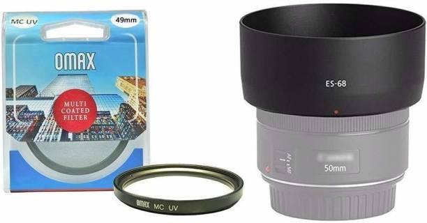 OMAX Lens Hood & MC UV Filter Combo for Canon EF 50mm f/1.8 STM Lens  Lens Hood