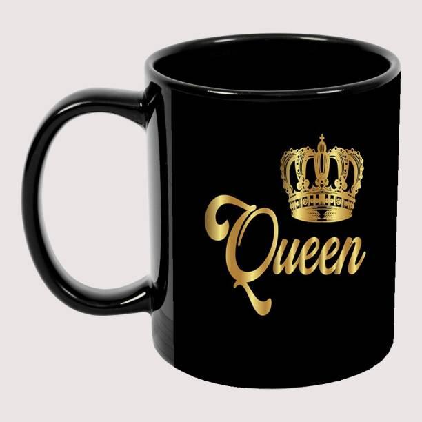 Murli Textiles MTM Queen Black patch coffee mug ultimate gift for anyone Ceramic Coffee Mug