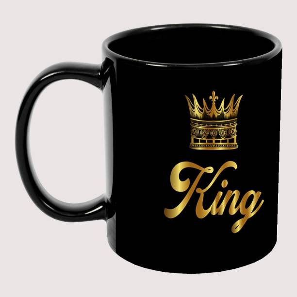 Murli Textiles MTM King Black Patch coffee mug, best gift for anyone Ceramic Coffee Mug